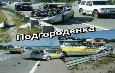 Уснувший за рулем таксист совершил жесткое ДТП.