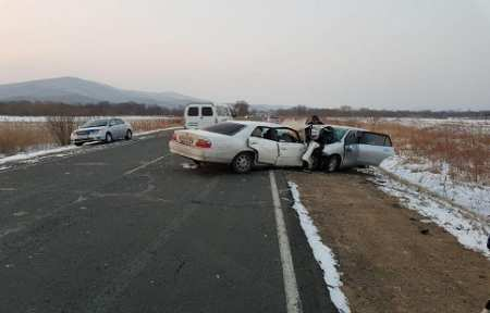 С 1 по 4 января на территории Приморского края зарегистрировано 195 автоаварий.
