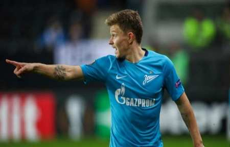 Полузащитник «Зенита» Шатов может перейти в «Локомотив».