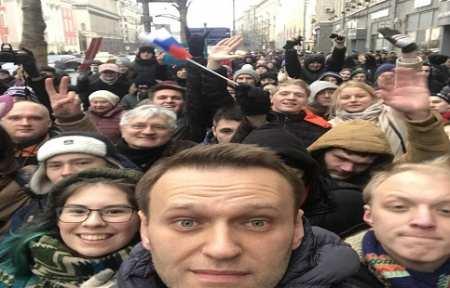 Навального задержали на Тверской.