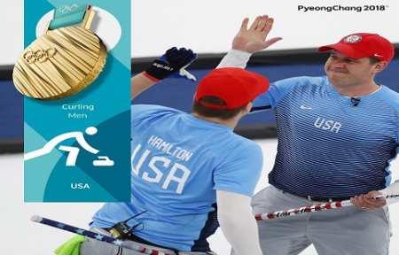 Мужская Сборная США по керлингу завоевала золотые медали Олимпиады-2018.