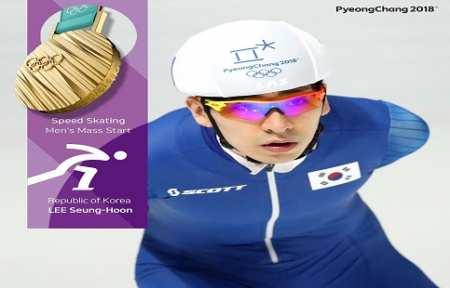 Южнокорейский конькобежец Ли Сын Хун — победитель масс-старта на домашней Олимпиаде.