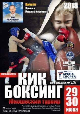 29 – 30 июня в СК «Арена Спорта» состоится ежегодный турнир по кикбоксингу