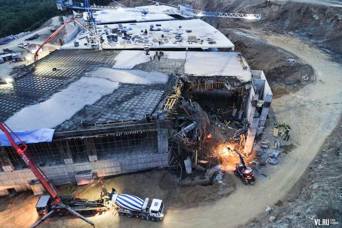 В Артеме выясняются причины обрушения плиты перекрытия строящегося казино «Шамбала»