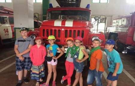 Дети из города Артема побывали на экскурсии в пожарно-спасательной части.