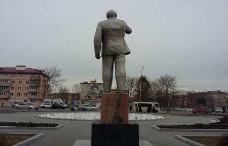 В городе Артеме осквернен памятник Владимиру Ильичу Ленину.